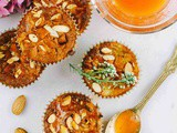Eggless Rhubarb Muffins Recipe with Rhubarb syrup