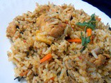 Low fat quick chicken biriyani