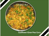 Cauliflower-Green Peas Curry