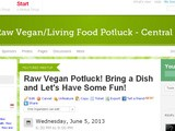 Come Celebrate! Our First Raw Vegan Food Meeup/Potluck