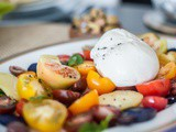 Cherry Tomato & Potato Salad with Burrata & Olives Recipe
