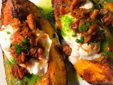 Roasted Acorn Squash with Burrata Mozzarella and Garlic Brown Butter