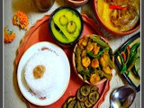 A Bengali Thali on the occassion of Durga Puja/Navratri
