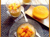 Chilled Mango Pudding (minus gelatin)