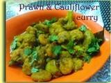 Chingri Diye Phulkopir Dalna(Potato-Cauliflower curry with prawns)