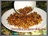 Chola Bhaja ~ Fried black chickpeas/Kala Chana(a guilt free snack)