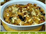 Four cheese baked veg pasta