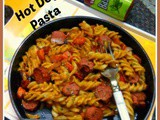 Garlic Flavoured Hot Dog/chicken sausage Pasta