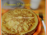 Mango & Banana Pancake ~ Kid's favorite breakfast dish
