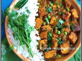 Matar Paneer ~ Paneer cooked with fresh green peas