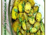 Oven Roasted Baby Potatoes in Indian Style
