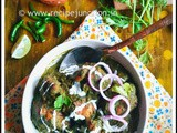 Palak-Dhonepata Chicken (Saag Chicken/Spinach-Coriander Chicken)
