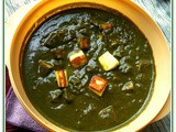 Palak Paneer(Cottage cheese cooked in flavorful spinach gravy)