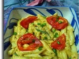 Pasta in Creamy Pumpkin & Carrot Puree