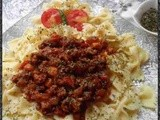 Pasta with Bolognese Sauce ~ an Italian Delicacy
