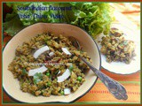 South Indian flavoured Bean rice Pilaf/Chirer Pulao