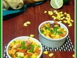 Tangy Paneer and Corn quick salad