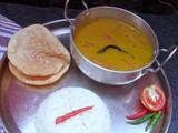 Tomato Dal (Red lentil cooked with seasoned tomatoes)