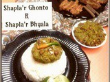 Two Bengali Shapla(Water Lily stem) Delicacy : Shapla'r Ghonto & Shapla'r Bhyala(a fritter)