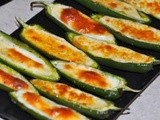 Baked Jalapeno Peppers with Mozzarella Cheese