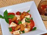 Caprese Salad with Lima Beans