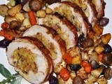 Ham and Mushroom Stuffed Turkey Breast