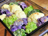 Multicolored Cauliflower and Broccoli Gratin