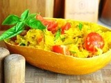 Spaghetti Squash with Tomato and Basil