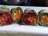 Green and Red Vegetable Roll