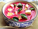 Paneer in Beetroot Gravy