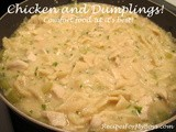 Chicken and Dumplings...Comfort Food For Hubby