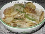 Fried Potatoes, Green Peppers and Onions