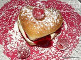 Lemon Raspberry Filled Valentine Donuts