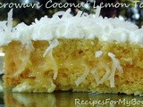 Microwave Coconut Lemon Torte