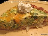 Potato Crusted Broccoli Cheese Quiche