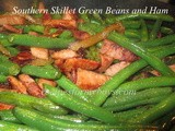 Southern Skillet Green Beans with Ham Cooked in t-Fal Skillet