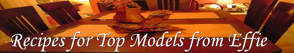 Very Good Recipes - Recipes for Top Models from Effie