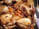 Quail in orange juice