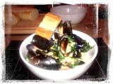 Moules Mariniere with Cream, Garlic and Parsley