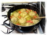Winter Warming Veggie Stew with Onion and Sage Dumplings