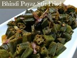 Bhindi payaz Stir Fired | Okra | Ladies Finger Fried Recipe with Onions | Vegetarian Recipes