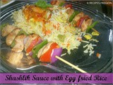 Shashlik Gravy with Fried Rice | Chicken Shashlik Sauce