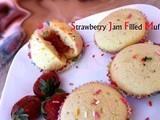 Strawberry Jam Filled Muffins Recipe  : 5th Guest Post for AinyCooks