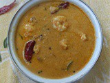 Chemmeen curry /Prawns in coconut grtavy Kerala style