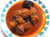 Choora meen curry / Tuna fish in red gravy Alleppey style