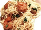 Curried Shrimp with Angel Hair Pasta in Lemon Butter Sauce