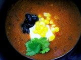 Roasted vegetable & bean soup