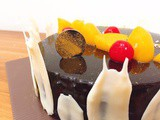 Cherry and Peach Chocolate Cake / Bolu Coklat Buah