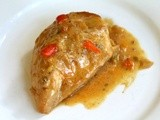 Baked Chicken in Cream with Hatch Chiles
