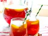 Bourbon Peach Tea: Perfect Summer Cocktail in a Pitcher